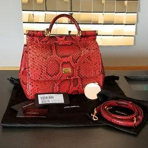 a9c06393b4 Dolce   Gabbana Bags - Dolce   Gabbana Python Sicily Medium Bag
